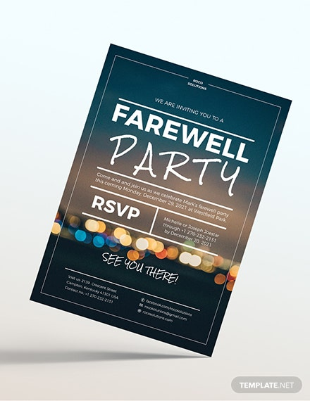 Farewell Party Flyer Download