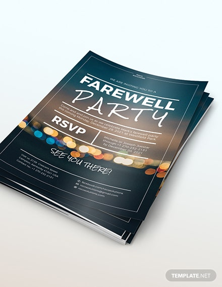 Sample Farewell Party Flyer