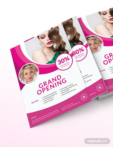 Hair Salon Grand Opening Flyer Download