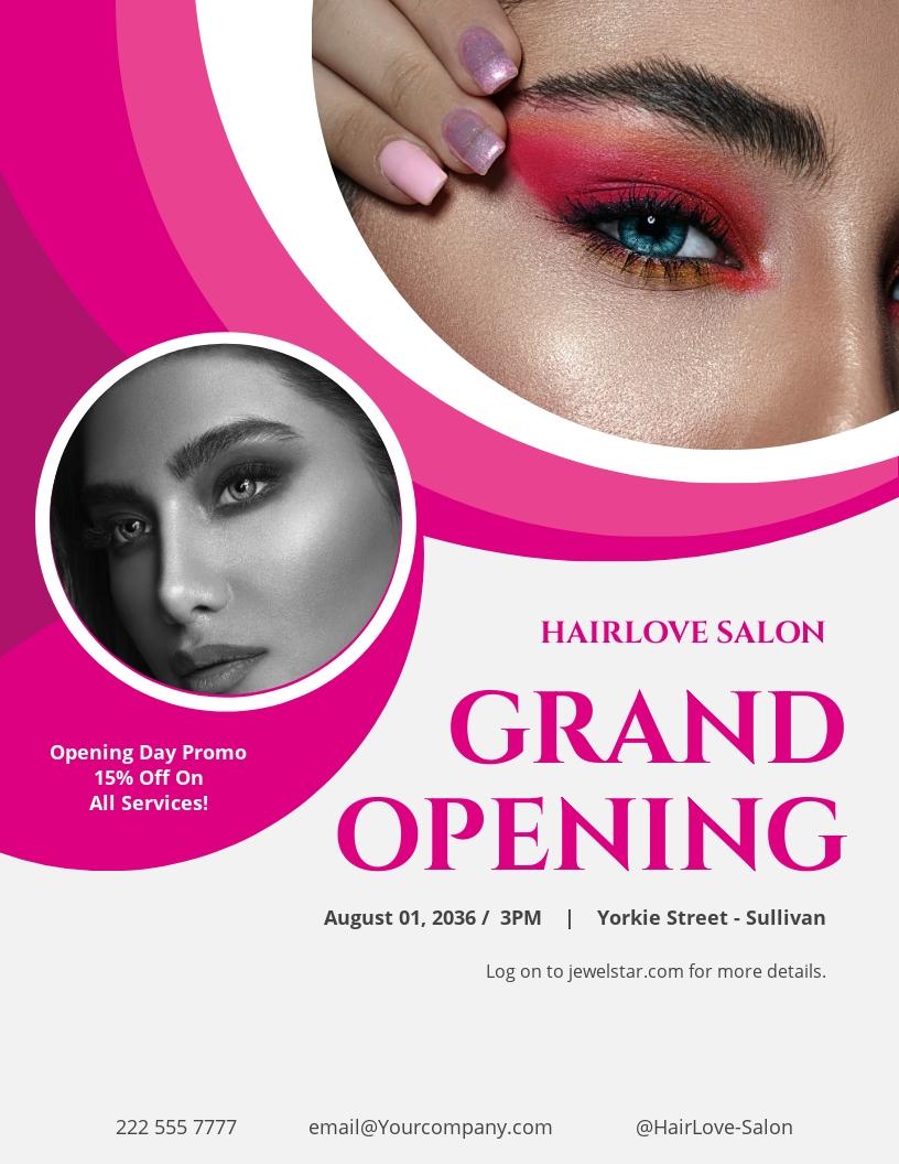 Hair Salon Grand Opening Flyer Template