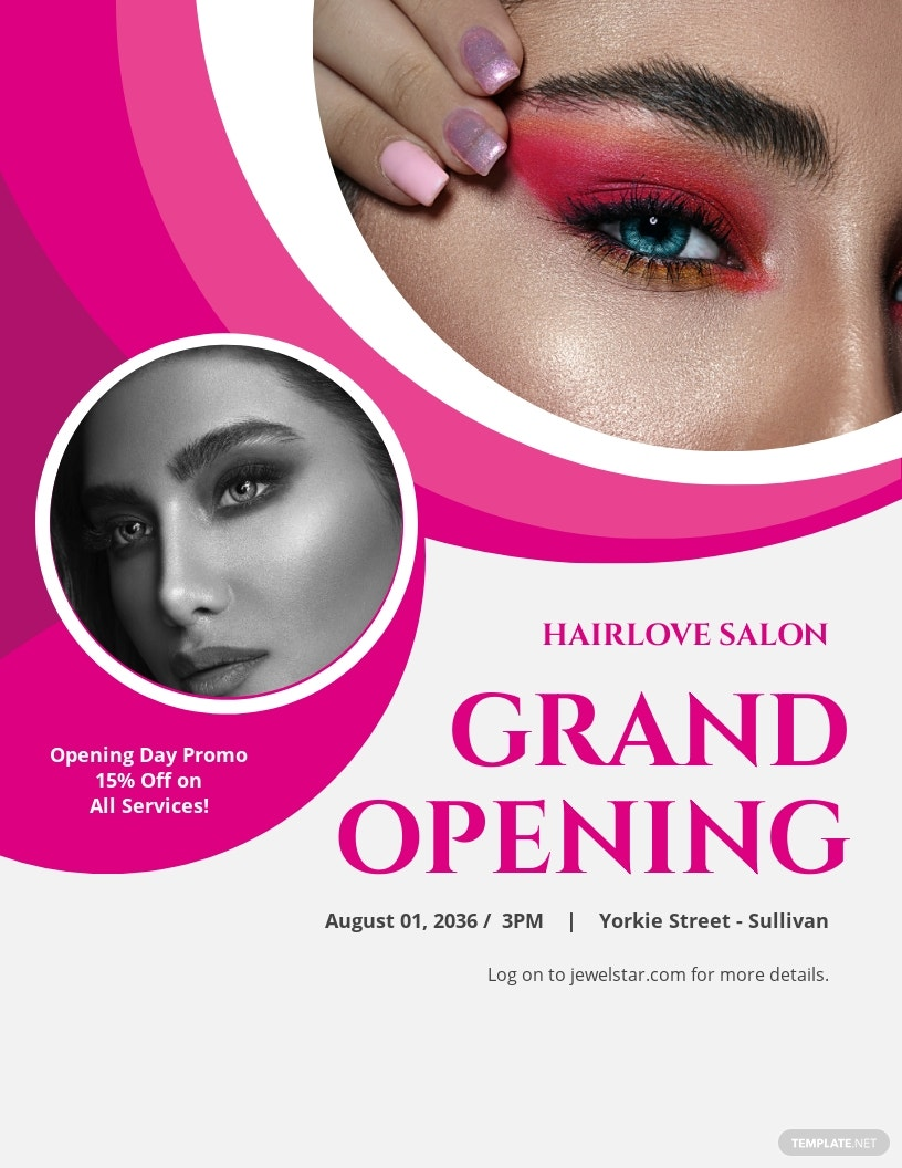 Hair Salon Grand Opening Flyer Template