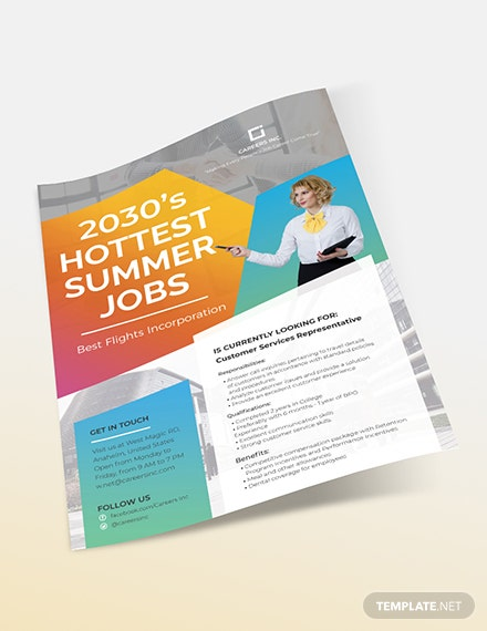 Job Advertising Flyer Sample