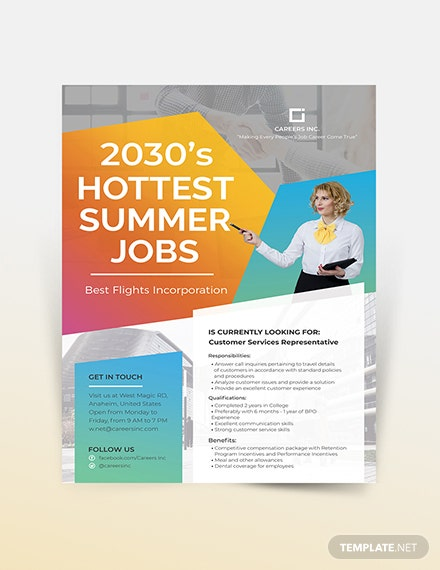 Job Advertising Flyer Template