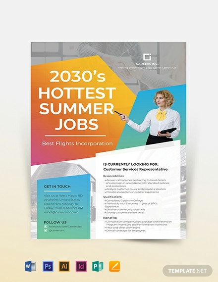 Job Advertising Flyer Template
