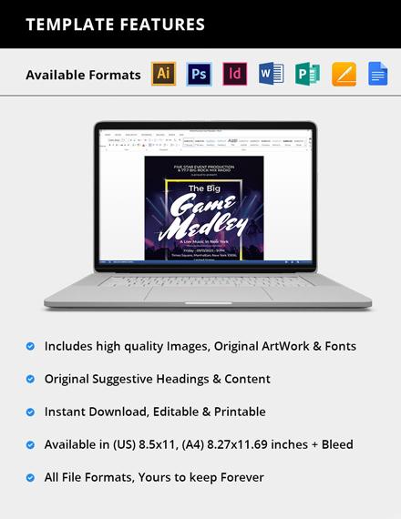 Editable Live Music Festival Flyer
