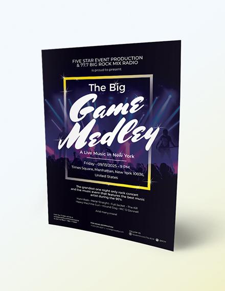 Live Music Festival Flyer Download