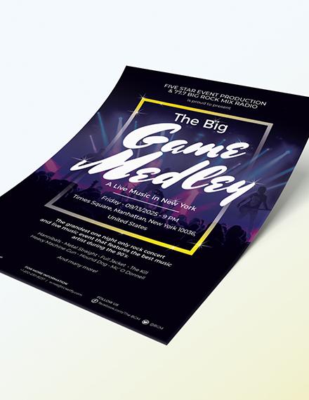 Sample Live Music Festival Flyer