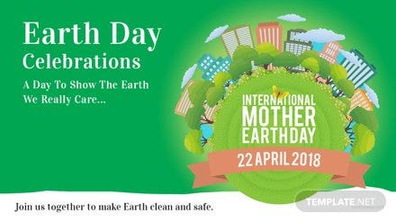 Free International Earth Day YouTube Video Thumbnail Template