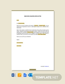 Free Employer Counter Offer Letter