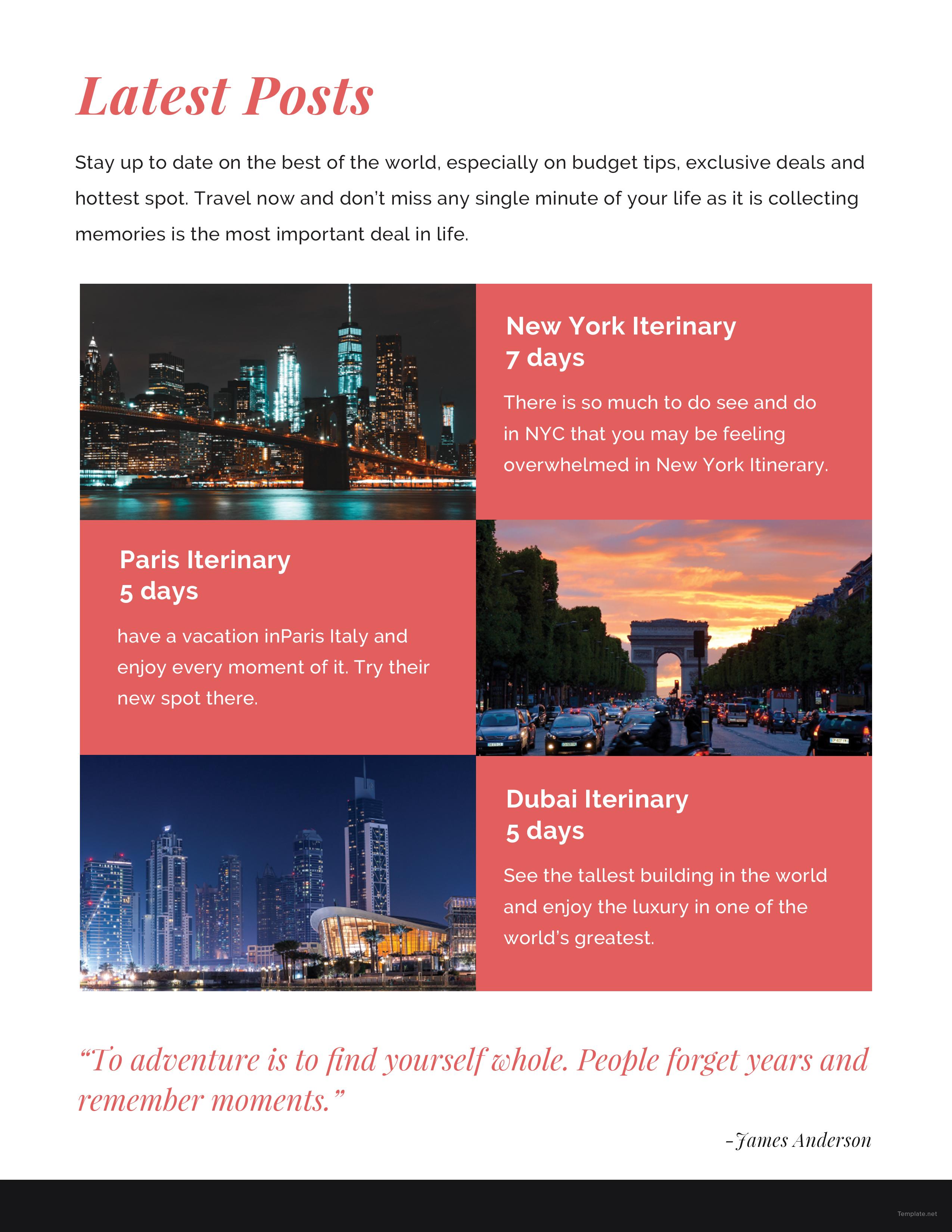 Creative Travel Blog Media Kit