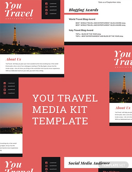 Free Travel Blog Media Kit Template
