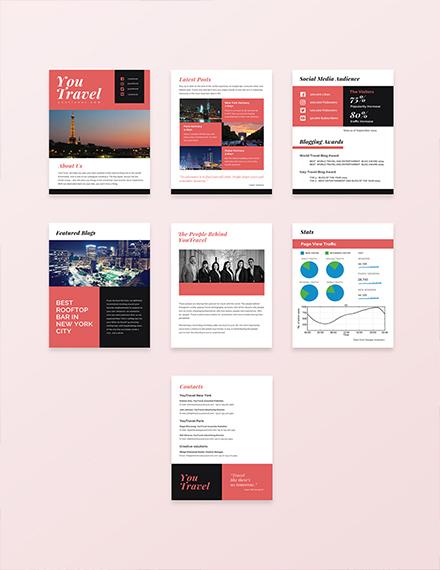 free travel blog media kit template download 28 media kits in psd