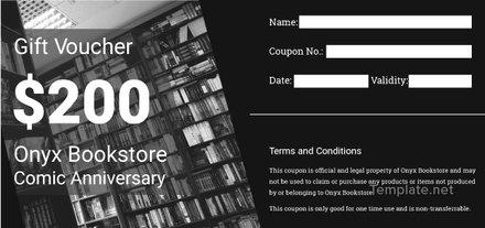 Free Book Store Voucher Template