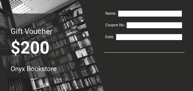 Book Store Voucher Template