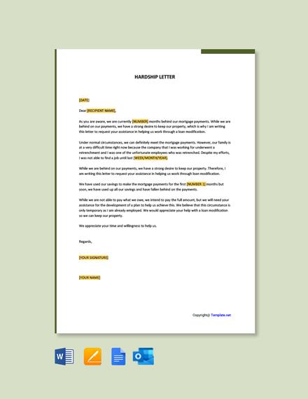 Free Hardship Letter