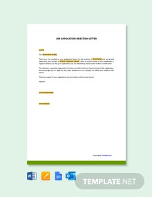Free Job Applicant Rejection Letter