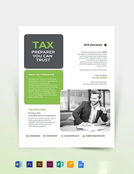 Tax Preparer Flyer Template