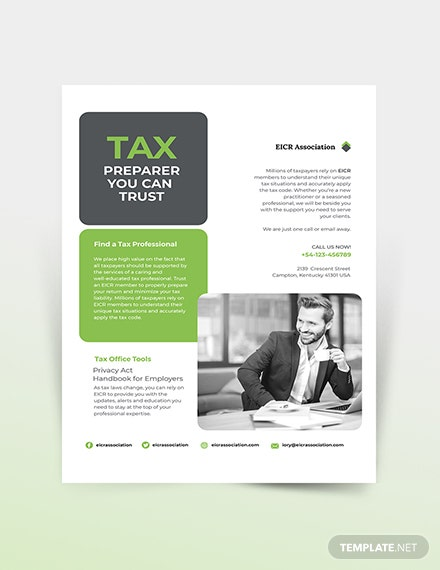 Tax Preparer Flyer Template