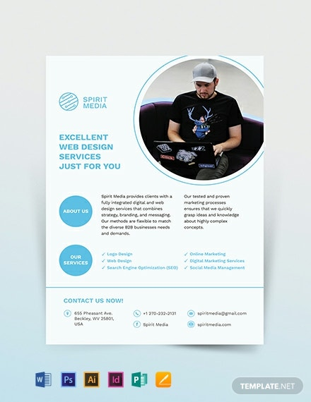 Web Development Flyer Template