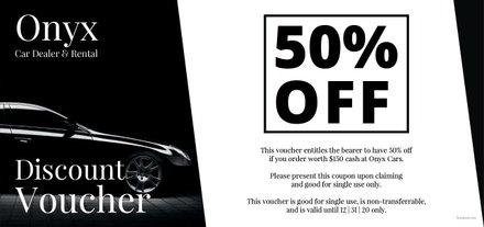 Free Car Dealer Discount Voucher Template