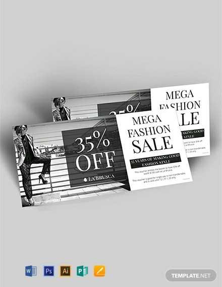 Free Fashion Sale Discount Voucher Template