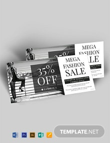 Free Fashion Sale Discount Voucher Template