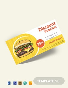 Free Fast Food Discount Voucher Template