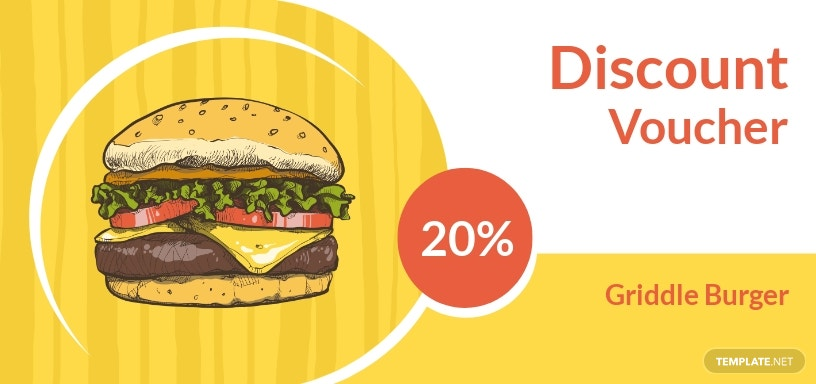 Fast Food Discount Voucher Template