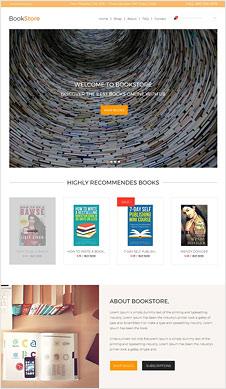 Book Store PSD Website Template