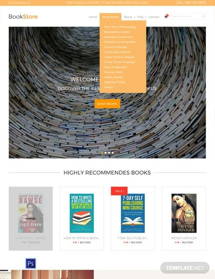 Book Store PSD Website Template
