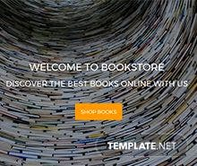 BookStore Website PSD Template