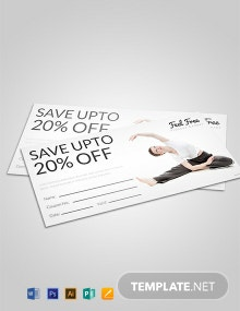 Free Fitness Voucher Template