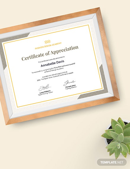 Sample Certificate of Appreciation for Training