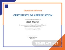 Certificate of Sports Day Template