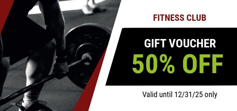 Gym Discount Voucher Template