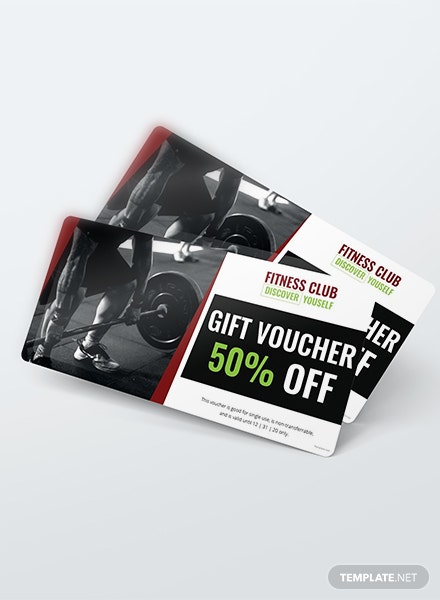 Free Gym Discount Voucher Template