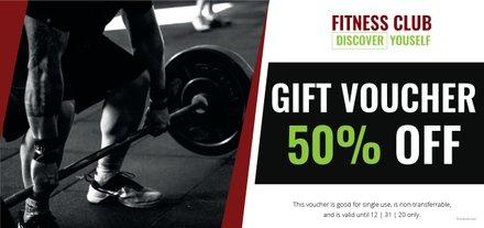 Free Gym Discount Voucher Template