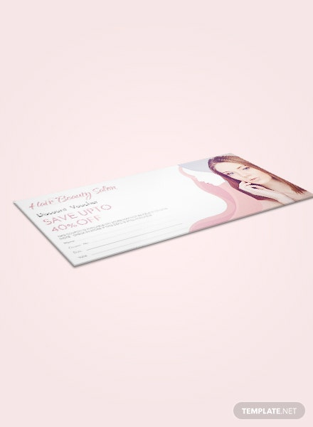 Free Hair Salon Discount Voucher Template