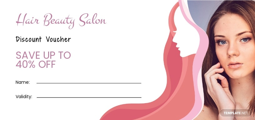 Hair Salon Discount Voucher Template