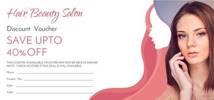 Free Hair Salon Discount Voucher Template