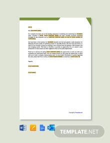 Free Business Sales Proposal Letter
