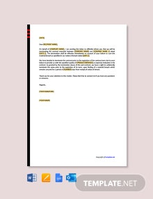 Free Business Contract Termination Letter