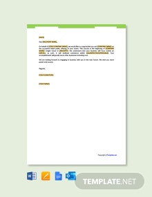Free Business Greeting Letter