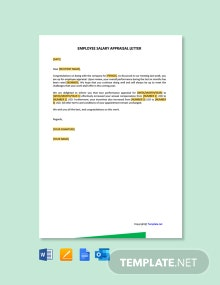 Free Employee Salary Appraisal Letter