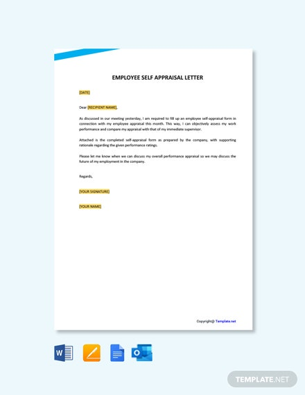 Free Employee Self Appraisal Letter