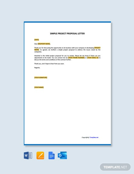 Simple Project Proposal Letter Template