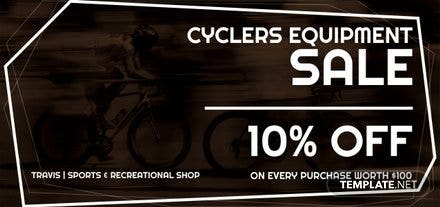 Free Cycling Store Discount Voucher Template