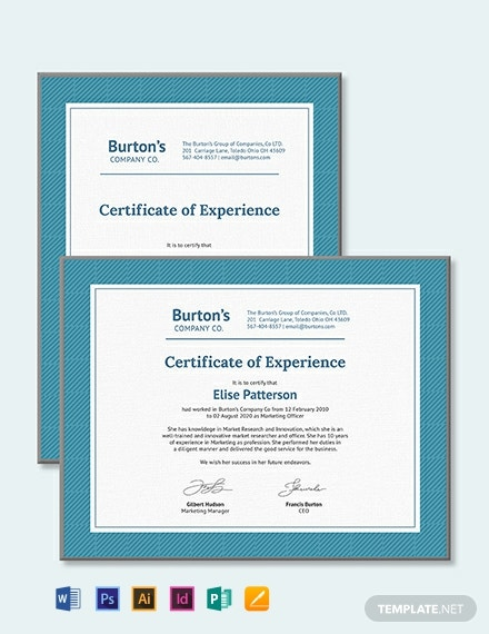 job experience certificate template 440x570 1