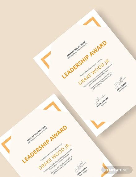 Sample Simple Leadership Certificate