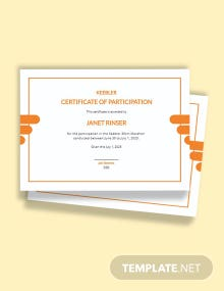 Marathon Certificate Template